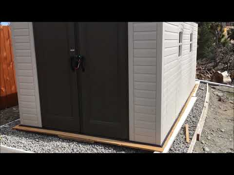 Lifetime Rubber Shed From Costco Review - YouTube