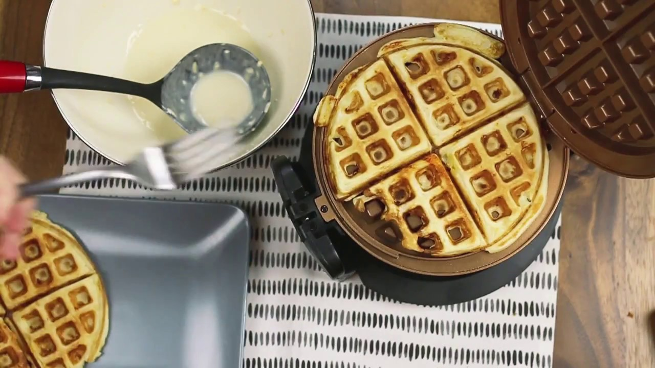 bella rotating waffle maker recipe and unboxing video