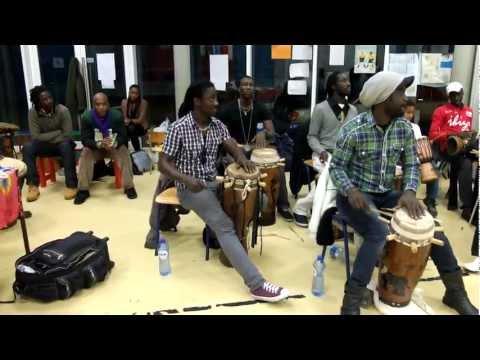 Nago Koité w/ Saf-Sap, Sabar Workshop, Brussels, Dec 2011, ft. Tidiane Diallo on vocals
