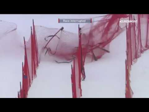 LINDSEY VONN CRASH  - LAKE LOUISE 2017