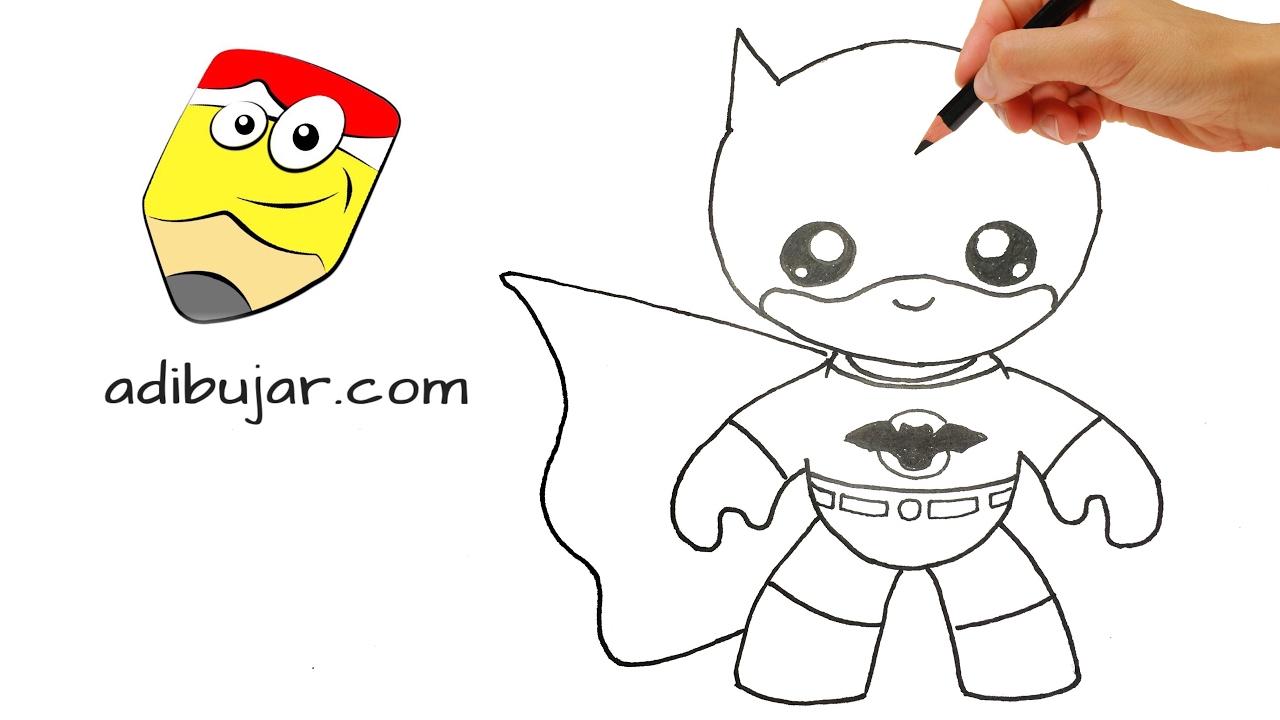 Cómo Dibujar A Batman Kawaii A Lápiz Paso A Paso. Dibujos
