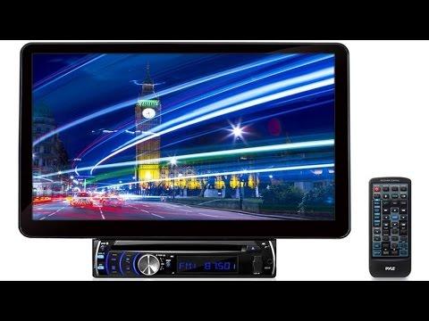 Pyle PLSD131BT In-Dash Multimedia Video Receiver Head Unit, Motorized & Detachable Display