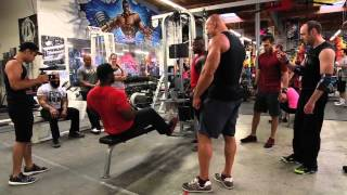 CT Fletcher, Mike Rashid, Big Rob взрывают спину вместе с Денисом Семенихиным