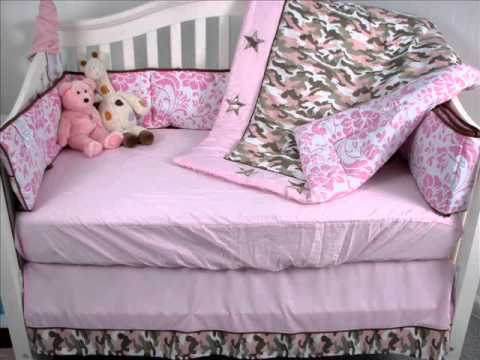 Pink Camo Baby Crib Nursery Bedding Set 13 Pcs Included Diaper Bag ; Girl Nursery Decor