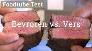 Test van een verse vs een bevroren Entrecote