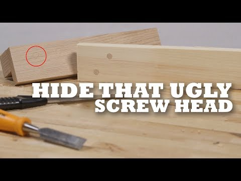 How to hide that ugly screw head with this simple DIY