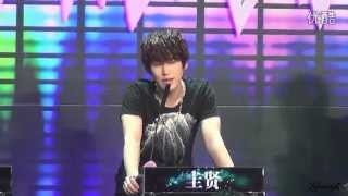 SJM Kyuhyun at HBSTV Challenge Recording, Guess your Songs  130126 [Fan Cam]