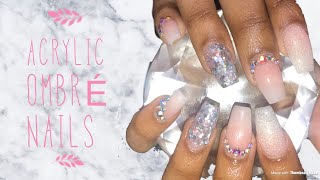 Acrylics Nails Tutorial | Full Set | Glow In the Dark Ombré Nails