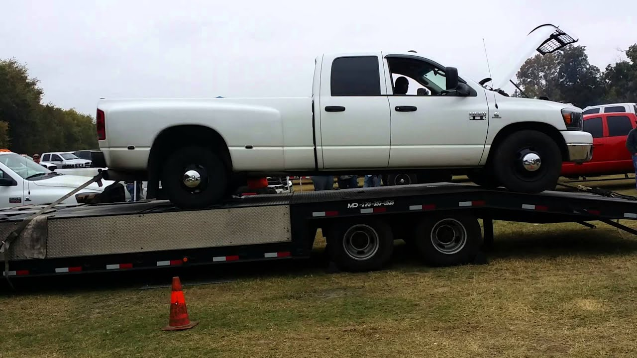 3rd gen dodge dually on the dyno - YouTube