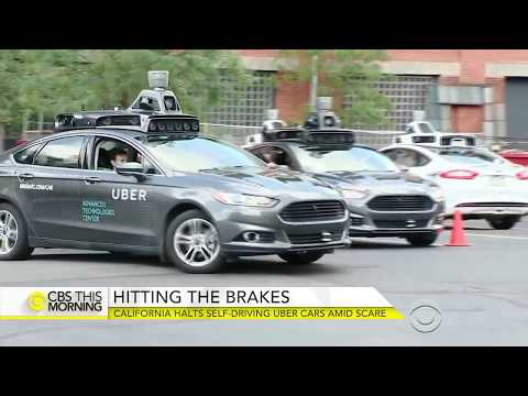 2016- California Self Driving Uber Car Runs Red Light