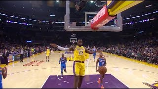 LeBron James and Rajon Rondo Connect On A Showtime Lob Right Before Halftime