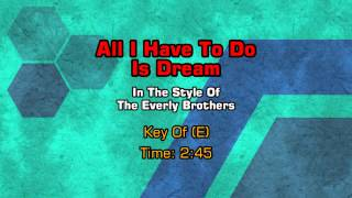 The Everly Brothers - All I Have To Do Is Dream (Backing Track)