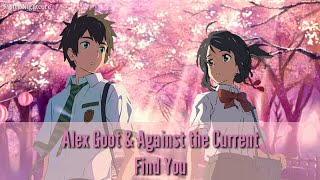 Gambar cover ︎Nightcore - Find you | Alex Goot & Against the Current
