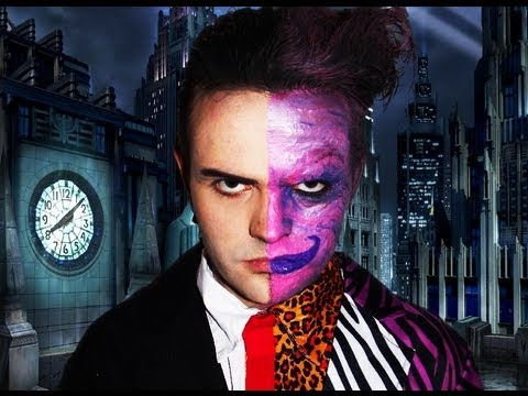 Two Face - Batman Forever - Makeup Tutorial! - YouTube