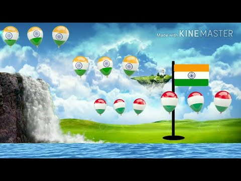 26 Jan | Republic day | How to make Flag hosting |  Animation | Kinemaster | Green Screen | Android