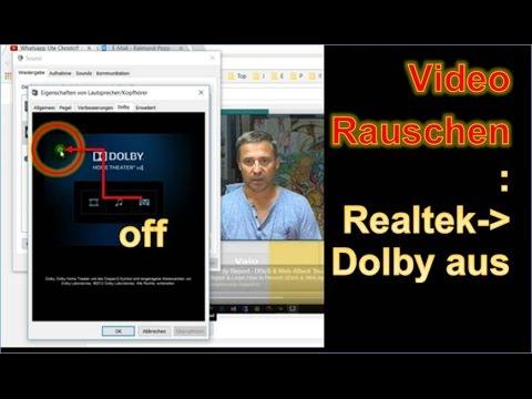 Rauschen bei Windows 10 Lautsprecher wegen falscher Dolby Einstellung