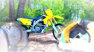 Замена масла и воздушного фильтра на кроссовом мотоцикле Suzuki RMZ 450