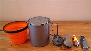 Lightweight camping cook set