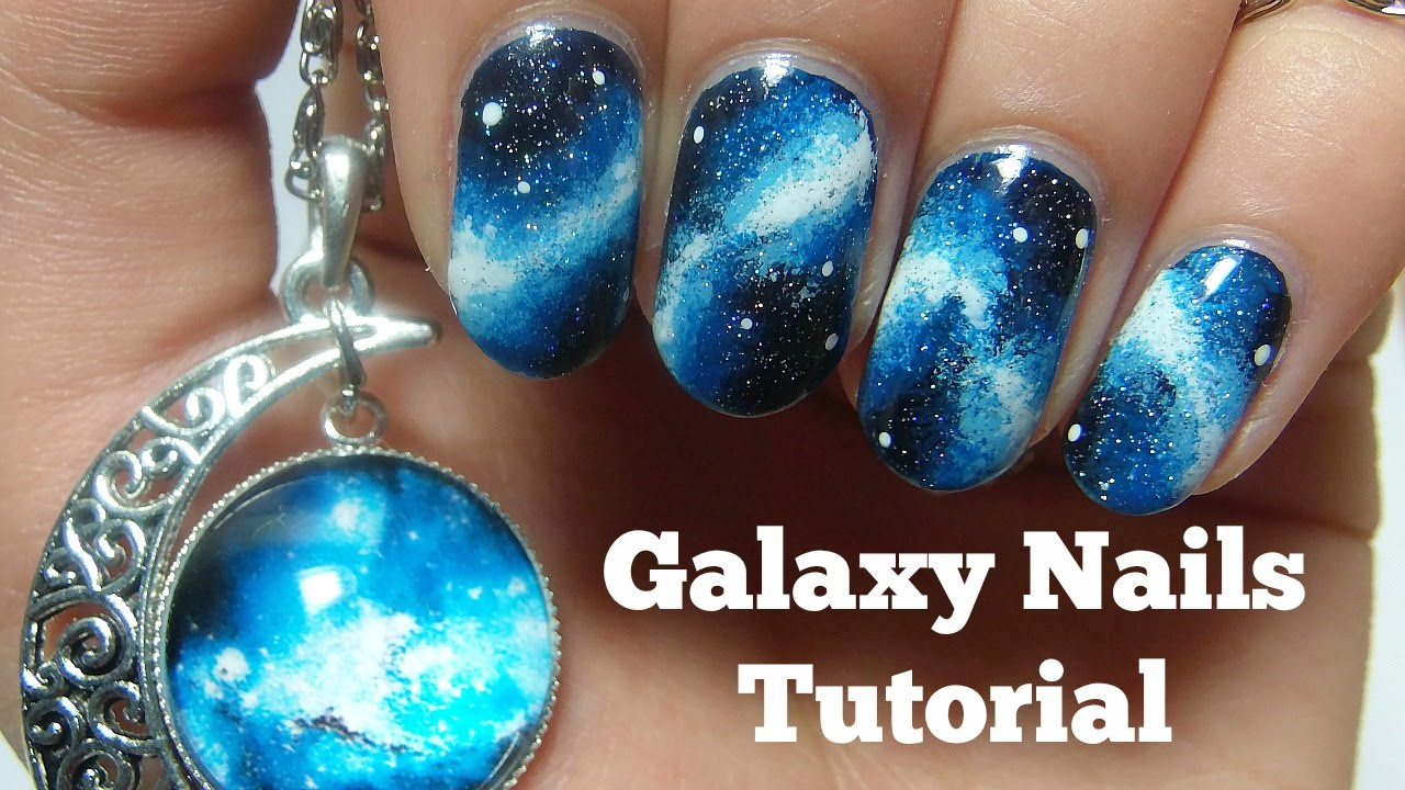 - Galaxy Nails Tutorial Nails By Kizzy - YouTube