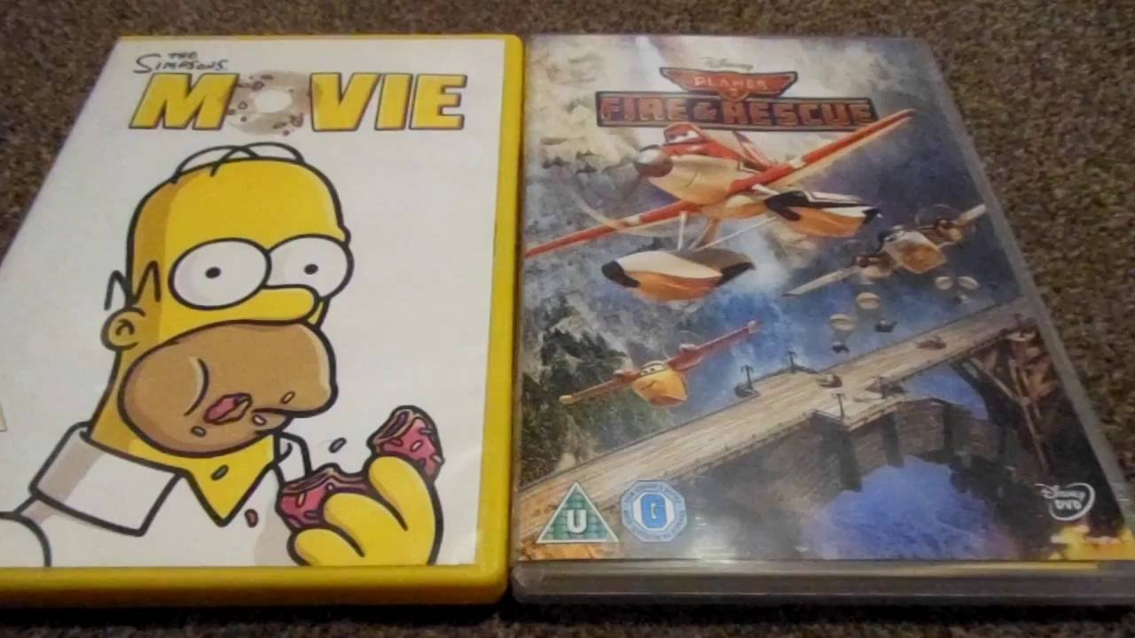 The Simpsons Movie And Planes Fire And Rescue Uk Dvd Unboxing By