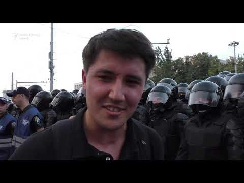 Evacuarea forțată a protestatarilor din Chișinău