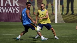 First 15 minutes of fc barcelona's preseason training session from tito vilanova pitch ---- barcelona on social media subscribe to our official channel ht...