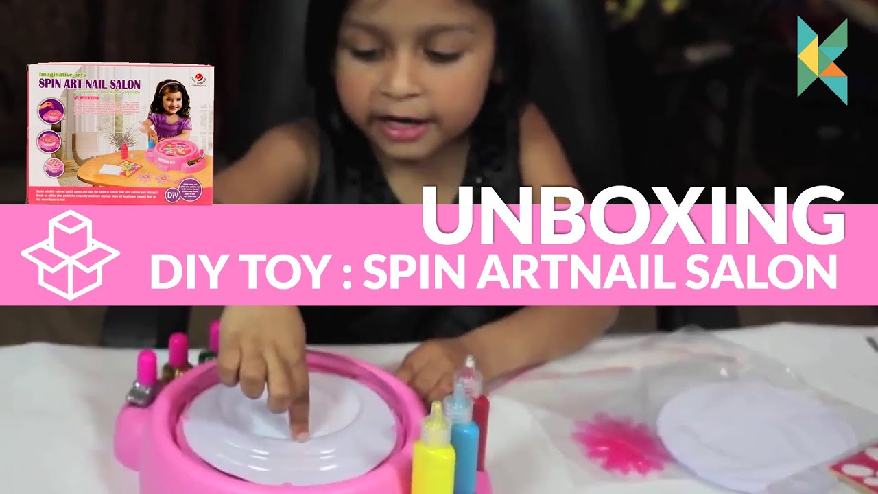 Spin art nail salon diy toy available in india youtube prinsesfo Choice Image
