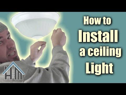 How to install ceiling light flush mount light fixture for How to install a flush mount ceiling light youtube