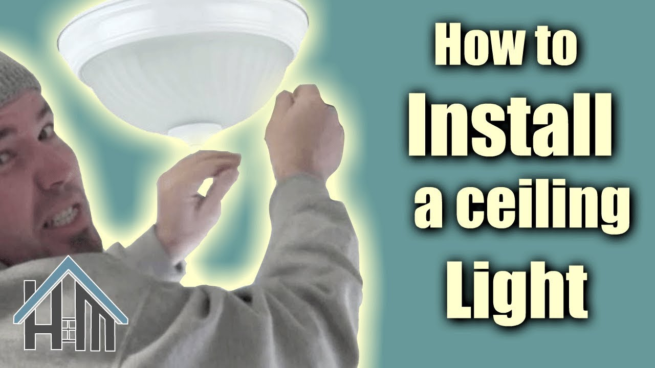 How to install ceiling light, flush mount light fixture. Easy! Home ...