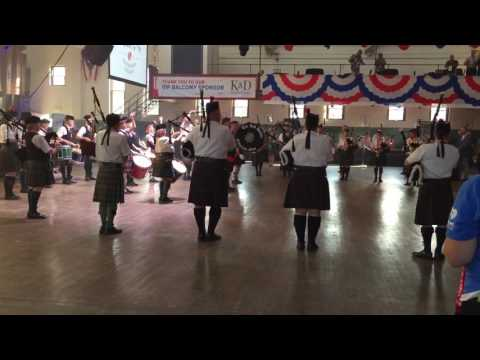 The Cleveland Bagpipers at Gray's Armory first night of the Repulican Convention