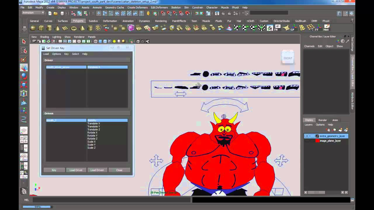 2D Mouth Rig - ANIMATION IMPORT / EXPORT (MIXAMO, ALEMBIC