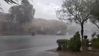 Monsoon rain storms hit the Las Vegas valley