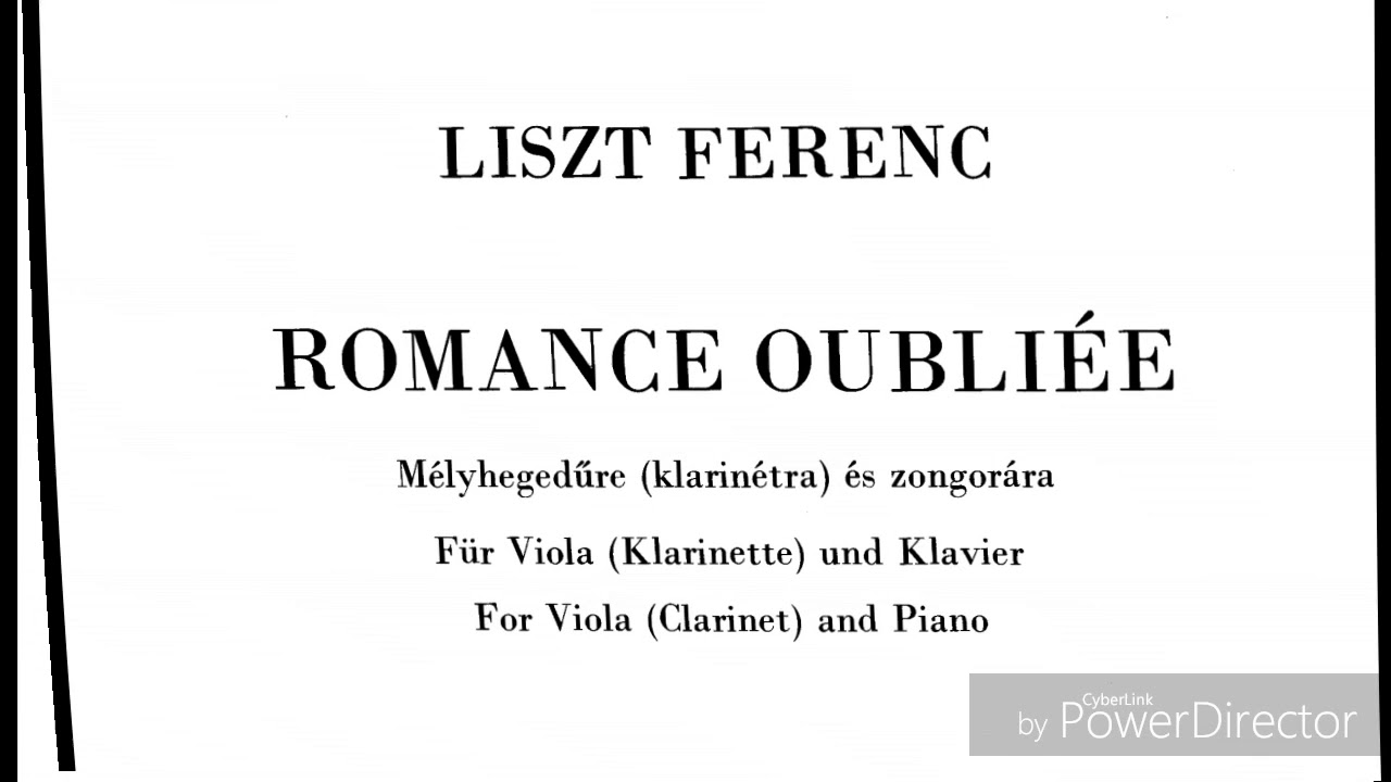Two Waltzes and Romance Oubliee
