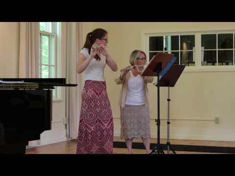 """Maia Grace Hendrickson and Sue Detweiler: """"Allegro con Gusto"""" from Three Duet by Friedrich Kuhlau"""