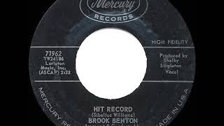 Gambar cover 1962 HITS ARCHIVE: Hit Record - Brook Benton (hit 45 single version)