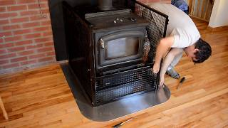 Wood stove baby fence (hearth gate)