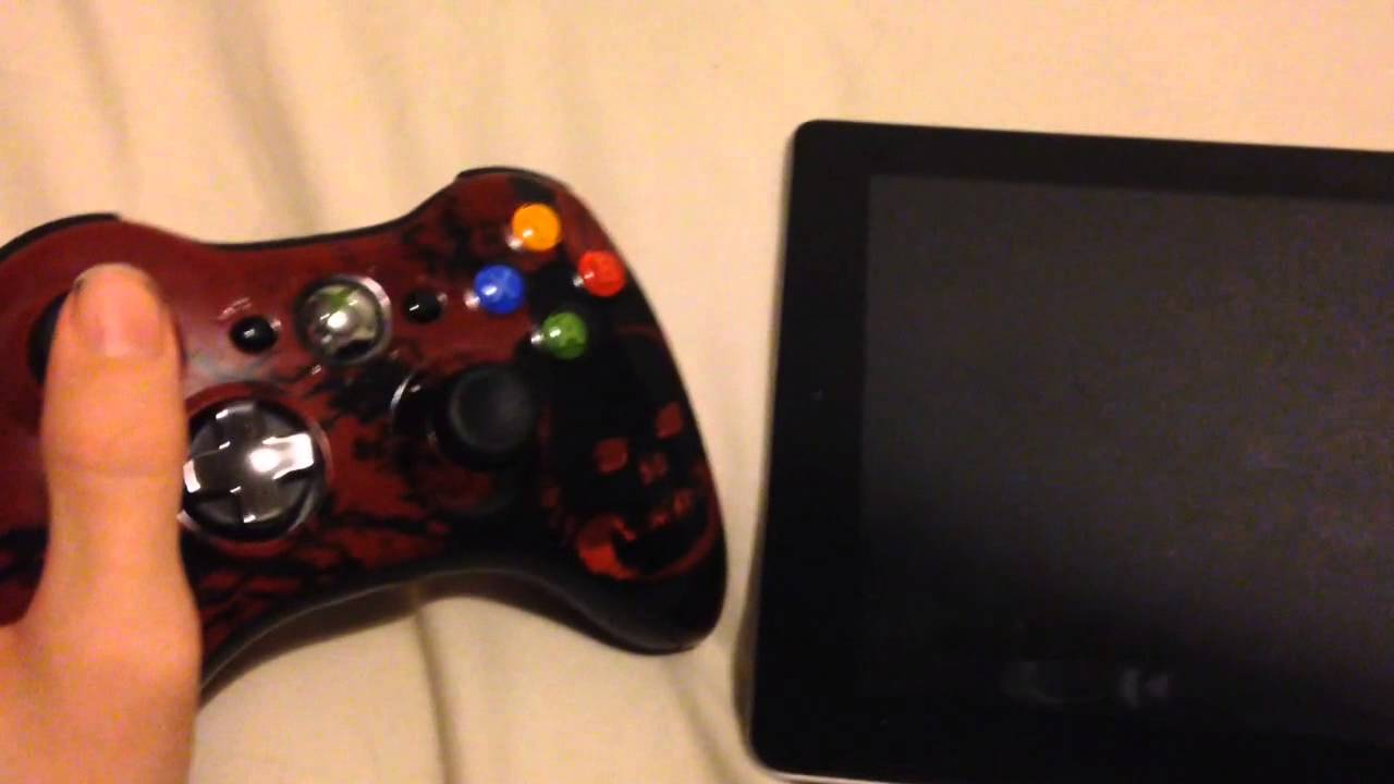 How To Connect An Xbox 360 Controller To An Ipad Youtube