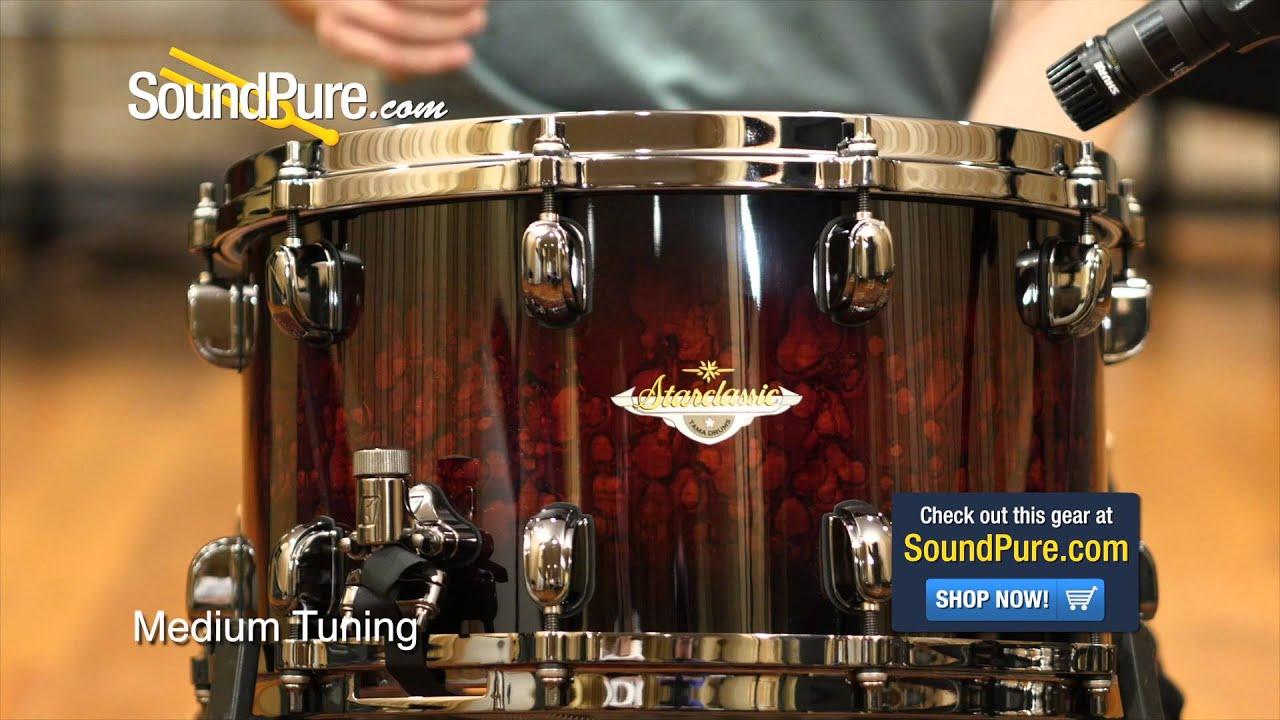 tama 8x14 starclassic bubinga snare drum quick n 39 dirty youtube. Black Bedroom Furniture Sets. Home Design Ideas