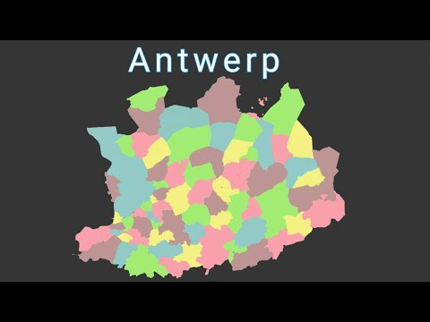 Antwerp geography / Antwerp province in belgium by Nandieboy