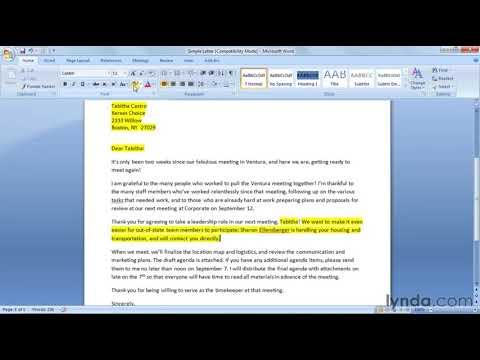 how-to-prepare-a-mail-merge-letter-|-lynda.com-tutorial