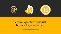 Motion graphics tutorial - bitcoin logo animation