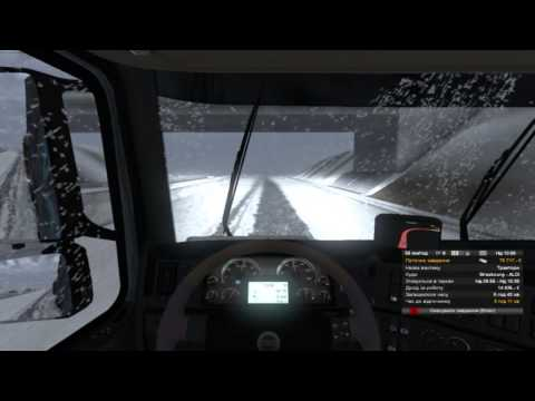 ETS2 goba6372  snow map v3 3 and Winter Mod test drive