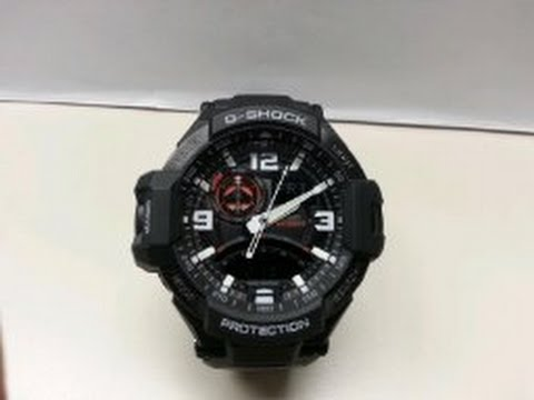 53d9bf5a5b3 G Shock GA 1000 1A Aviation Series Men s Luxury Watch Review - YouTube