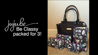 jujube be classy packed for 3 kids featuring the monarch and space place