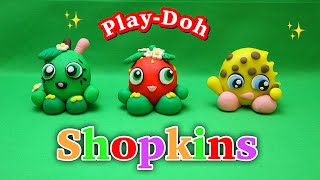 How to make super cute and easy Shopkins Playdoh / step by step tutorial.