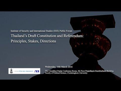 Thailand's Draft Constitution and Referendum 2/2