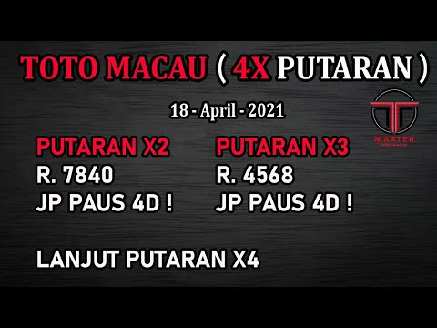 PREDIKSI TOGEL TOTO MACAU 18 APRIL 2021   BOCORAN TOGEL TOTO MACAU HARI INI   RUMUS TOTO MACAU