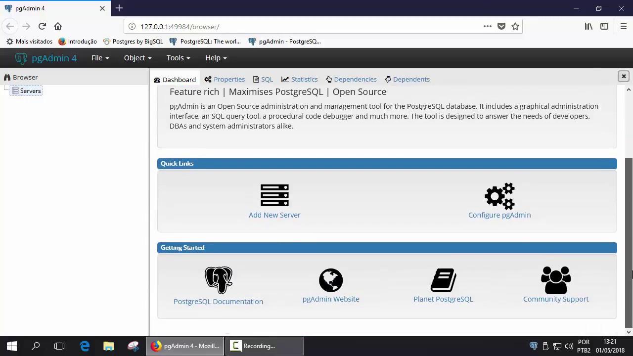 Instalação do pgAdmin 4 no Windows