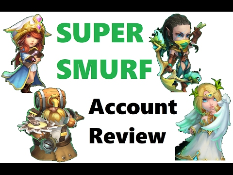 SUPER SMURF: Introduction! Account Altar Overview Ordinary Green Heroes Review Castle Clash F2P