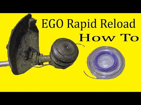 How To Load The EGO Rapid Reload Trimmer Head